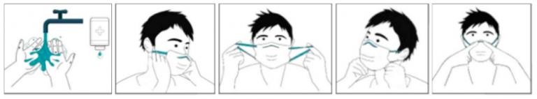 cómo ponerse una mascarilla